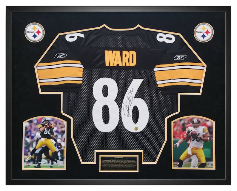 Hines Ward Pittsburgh Steelers Signed Jersey Framed in a | Etsy