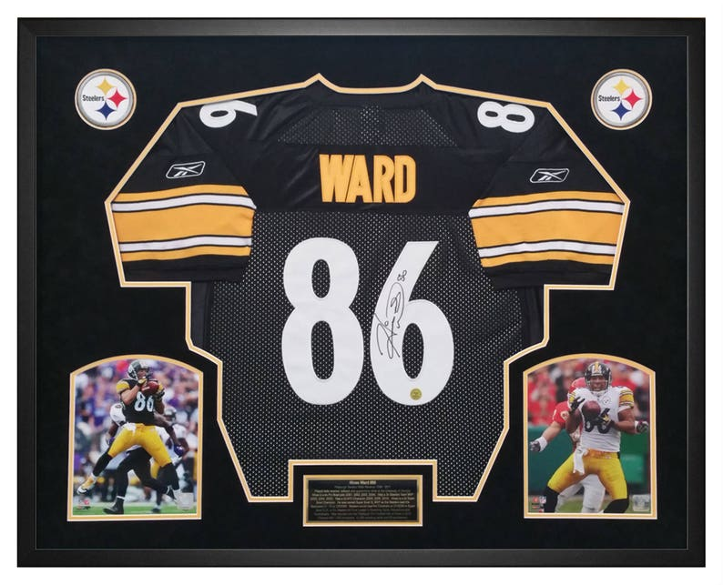 2e0e230e9 Hines Ward Pittsburgh Steelers Signed Jersey Framed in a