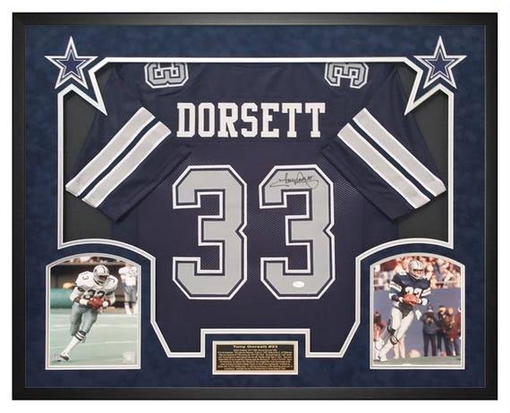 f77b4819ffb Tony Dorsett Dallas Cowboys Autographed and Custom Shadow Box   Etsy