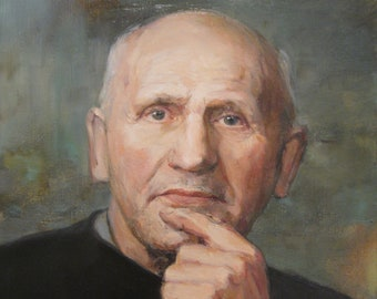 53a01a0d5a Custom portrait, Custom oil portrait from photo, Commission portrait, Oil portrait  painting, Custom oil painting from photo Painted portrait