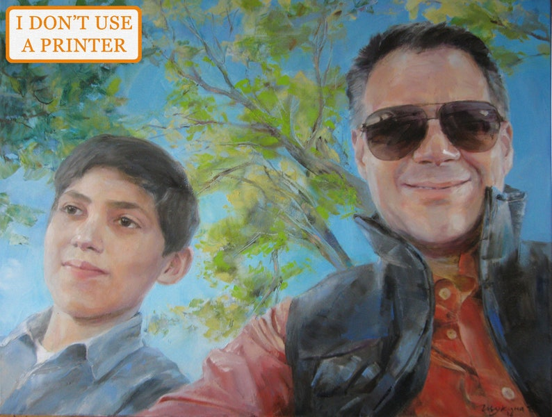 b879060046bdb Custom paintings on canvas, Portrait commission oil painting, Commission  custom art photo, oil painting commission from photo Commission art