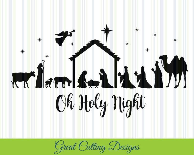 Nativity SVG Cut File Christmas svg DXF cut file Cricut svg image 0