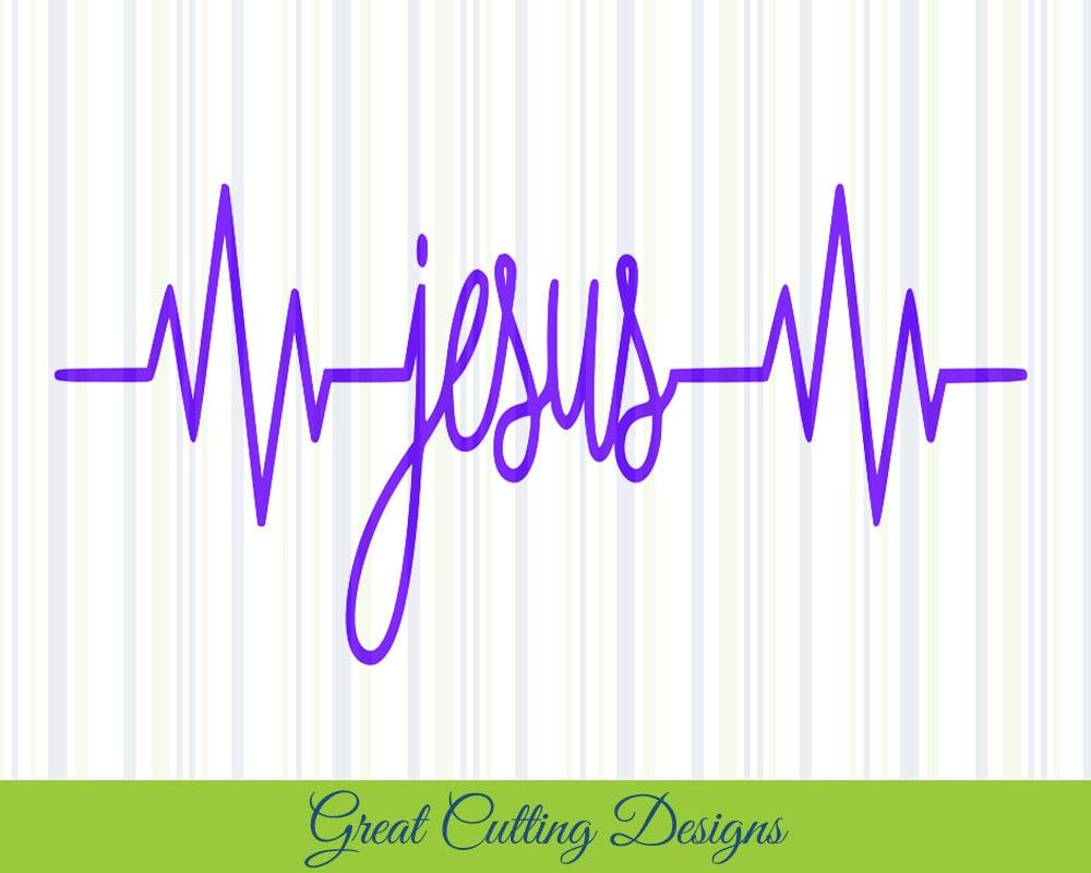 Jesus Svg Cut File Heartbeat Svg Dxf Cut File Cricut Svg Etsy