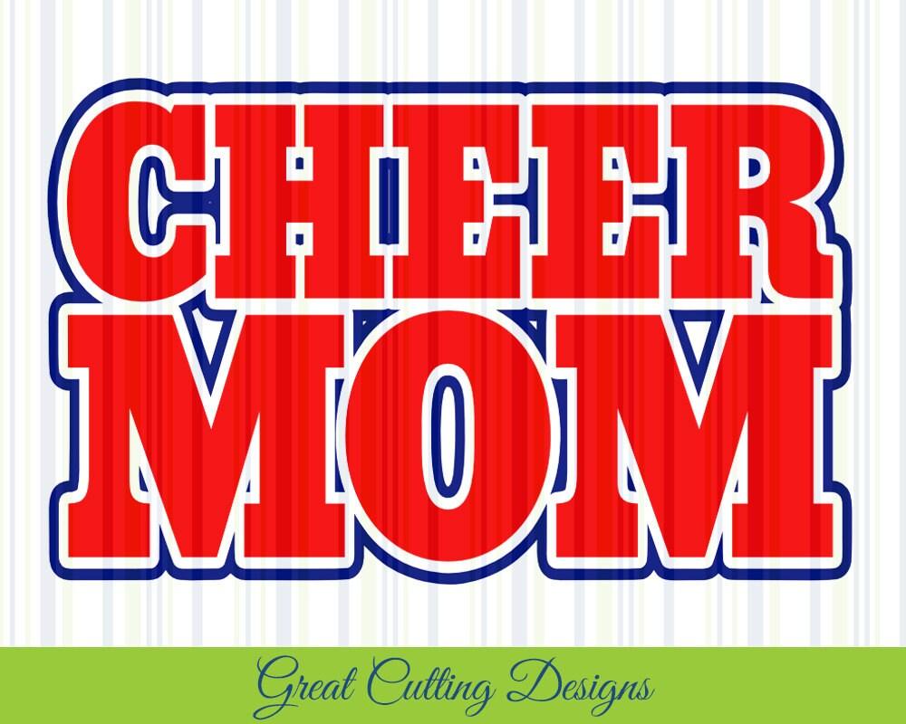 Cheerleader SVG Cut File Cheer mom svg DXF cut file Cricut svg   Etsy