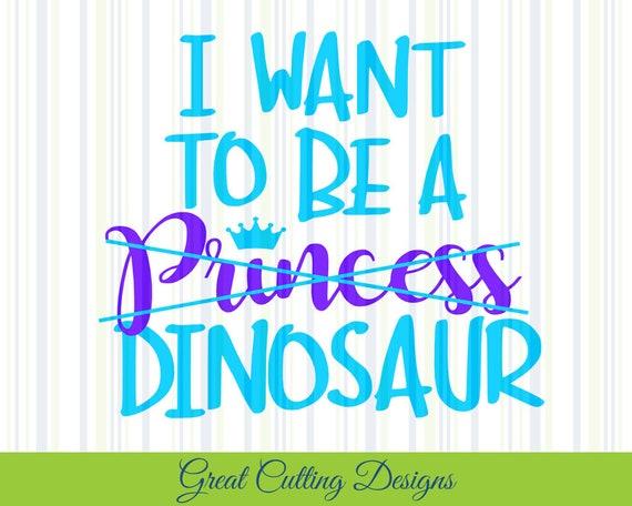 Princess Svg Cut File Dinosaur Svg Dxf Cricut Svg Silhouette Etsy