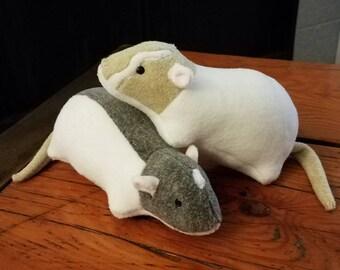 Customizable Rat Stuffed Animal Plushie Toy