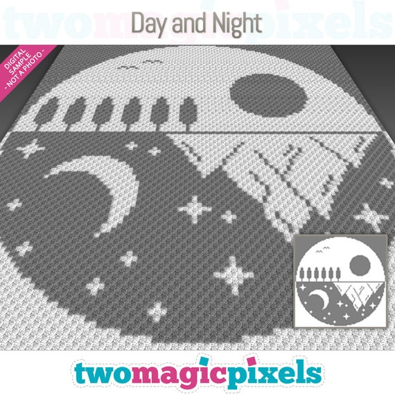 Day And Night Graph For Crochet C2c Mini C2c Sc Hdc Dc Etsy,How Long Do Cats Live Domestic