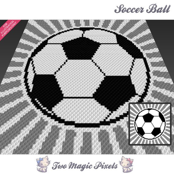 Soccer Ball crochet blanket pattern c2c cross stitch | Etsy