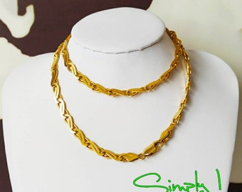 a300da335 9ct Yellow Gold Necklace Serpentine Design Link (196)