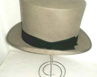 577c40d4614 Vintage Dunn   Co Grey Top Hat (173)