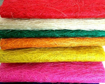 Handmade Abaca Fiber Sheet Craft Supplies 18 inches x 5 yards - Various Colours FREE SHIPPING (47)