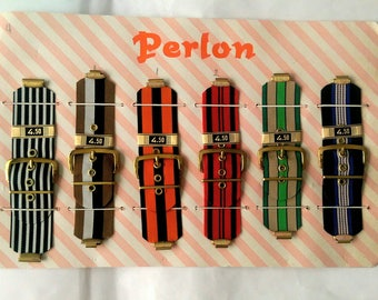 Perlon Funky Wide Canvas Watch Straps Bands Craft Supplies - Pick Your Favorites FREE SHIPPING (5123)