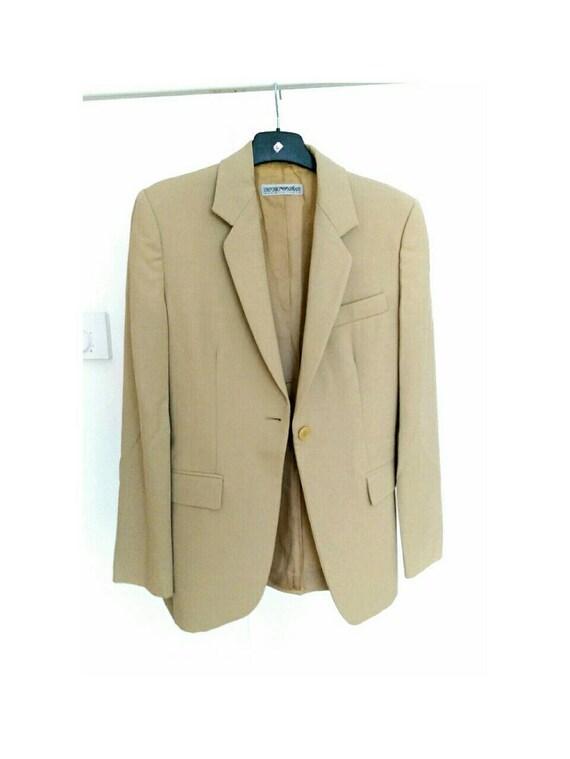 da04bdc7 Emporio Armani Vintage Suit Jacket Tan Women Fits Size UK10-12/US6-8 (5598)