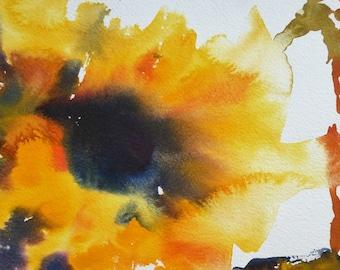 Sunflower/Watercolour sunflower