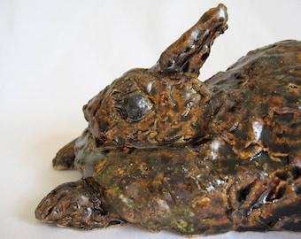 Rabbit/Ceramic Rabbit Sculpture/Garden Sculpture Rabbit