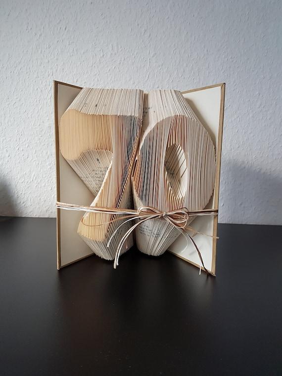 Geschenk 70 Geburtstag Gefaltetes Buch Buchkunst Etsy