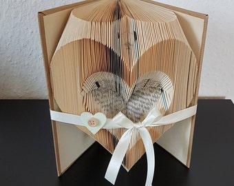 gefaltetes Buch, Herz, Muttertag, Geburtstag, Hochzeit, Geschenk