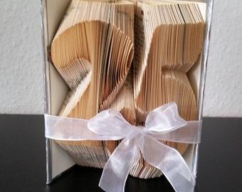 Deine Zahl - gefaltetes Buch, Geburtstag