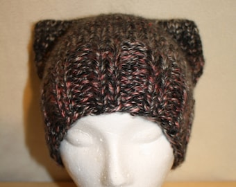 Knitted Cat Ear Beanie
