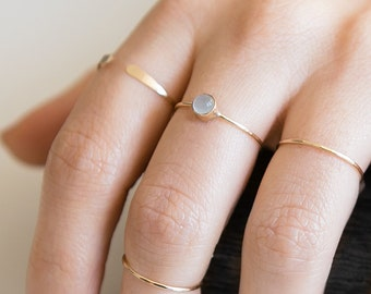 Aquamarine Ring | 14K Gold Filled | Stacking Ring | March Birthstone | Minimalist Ring | Dainty Ring | Boho | Gift For Her