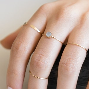 Open Ring4  Layered Ring 14K Gold-Plated Stacking Ring Boho Ring Simple Ring Delicate Ring Adjustable Ring Cuff Ringfor secret gift