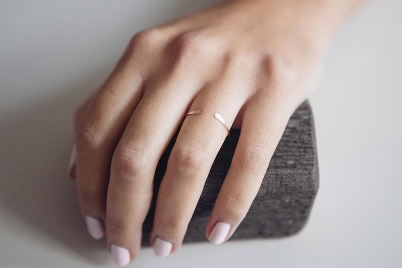 Open Ring/ Minimalist Ring/ 14K Gold Filled/ Stacking Ring/ image 0