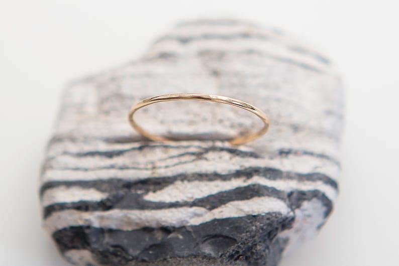 Dainty Ring  14K Gold Filled  Plain Gold Ring  Thin Ring  image 1