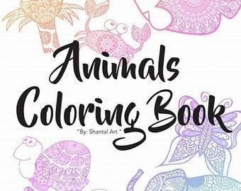 Animals Mandalas Coloring Book