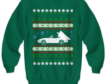 Christmas gift for Mazda Miata NA owner Ugly Christmas Sweater Sweatshirt Holidays mazdaspeed speed import jdm mens gift xmas first gen