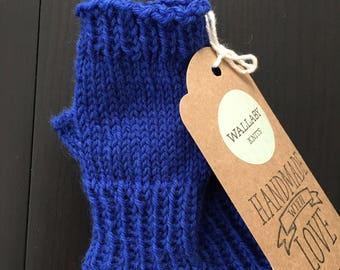 Blueberry Kid Mitts - Hand Knit Children's Fingerless Mitts - Fingerless Mittens