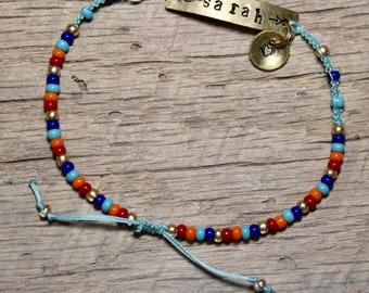 Personalized Beaded Charm Bracelet