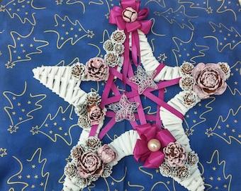 Elegant star Garland for Christmas