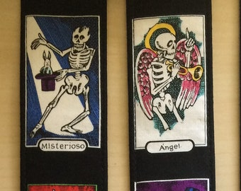 Skeleton guitar strap // day of the dead // dia de los muertos // rockabilly guitarist gift // suits acoustic guitar, electric, bass guitar