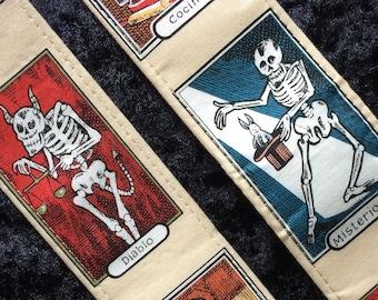Skeleton guitar strap LAST TWO // devil magician cooking // day of the dead // dia de los muertos // unique Halloween gift