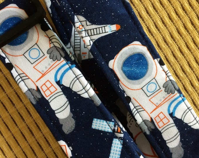 Spaceman ukulele strap, mandolin strap or child strap // handmade retro space nostalgia astronaut // unique musician gift, teacher gift