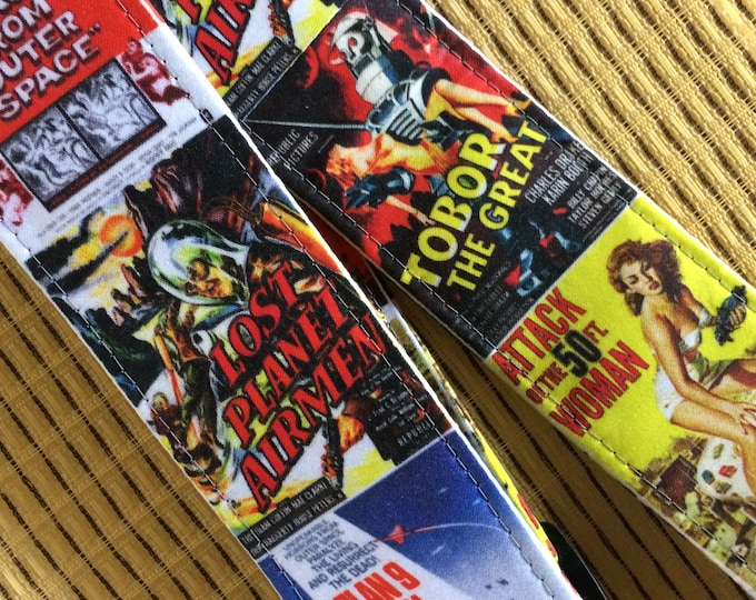 Sci-fi B-movie ukulele strap // vintage science fiction movies // retro lo-fi schlock cool // see other available styles in multiples images