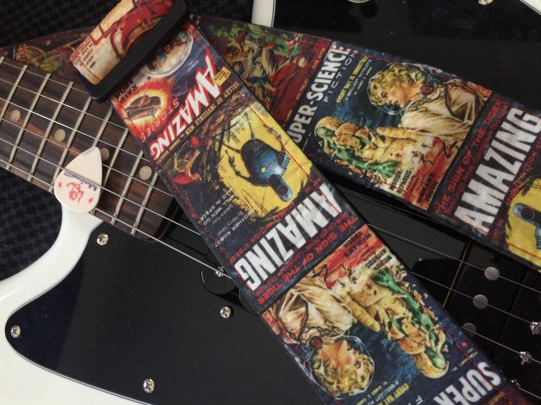 Sci Fi Guitar Strap Handmade Super Science Fiction