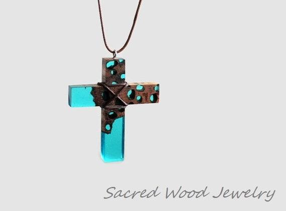 Drift Wood Resin Cross   Wood Resin Cross   Cross Necklace   Cross Pendant   Cross Jewelry   Wooden Cross   Art Cross Necklace  Man Cross by Etsy