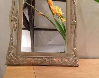 Old solid wood mirror