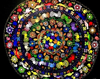 Painting acrylic Latin American theme