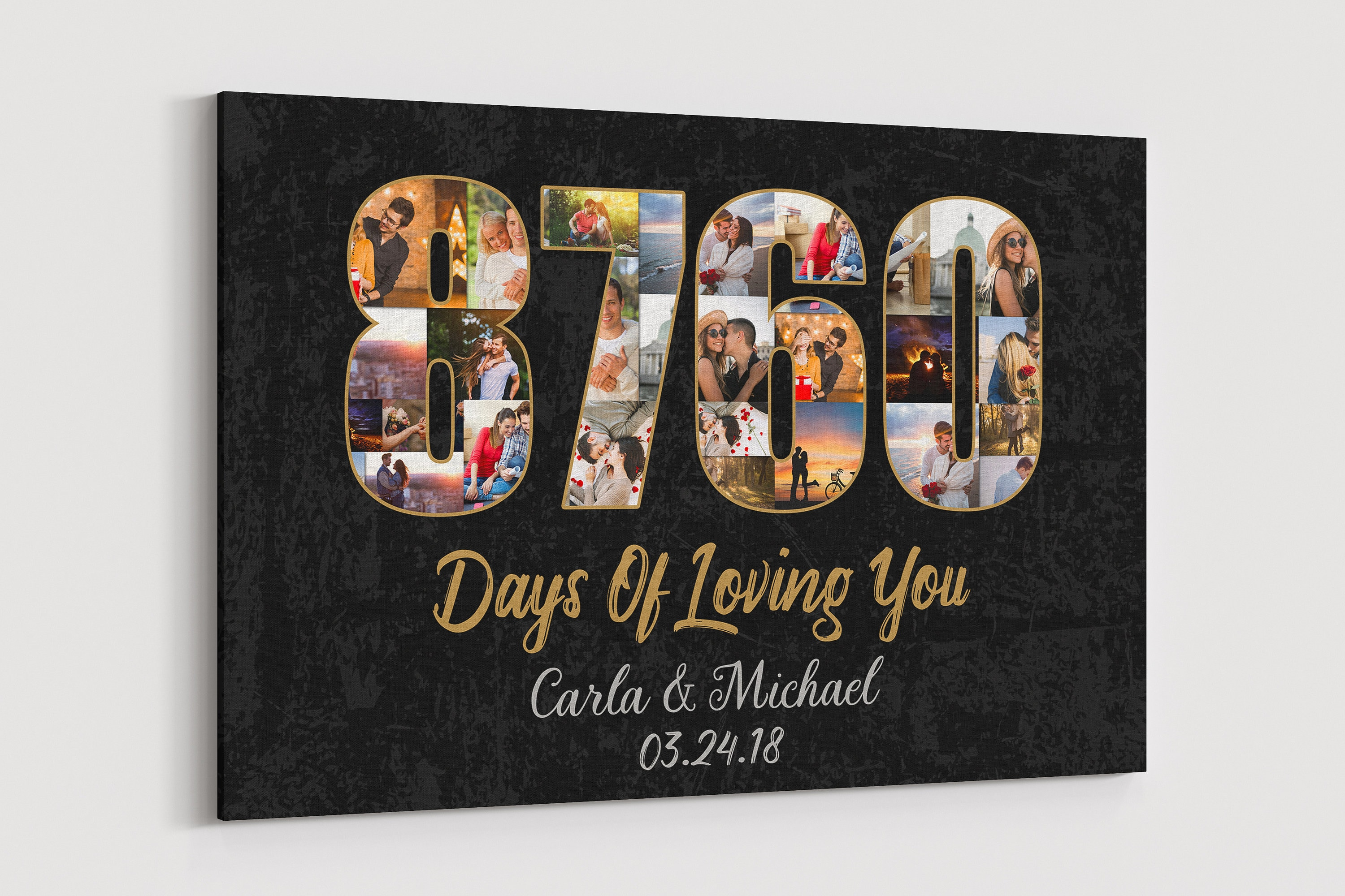 24 Year Anniversary Gift Canvas 24th Wedding Anniversary Gifts Etsy