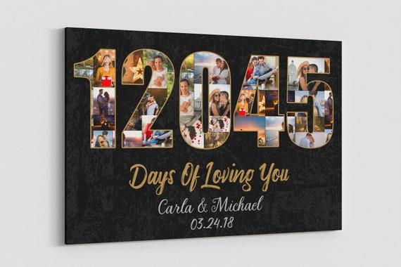 33rd Wedding Anniversary Gifts: 33 Year Anniversary Gift Canvas 33rd Wedding Anniversary