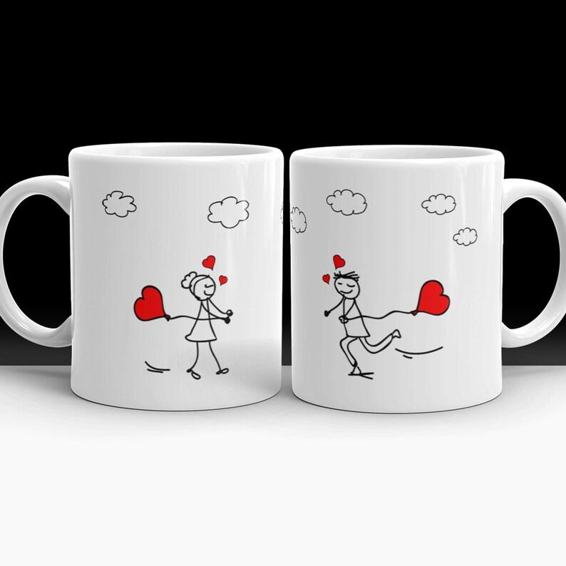 Couple Mugs  Couple Mug Set Mugs For Couples anniversary image 1