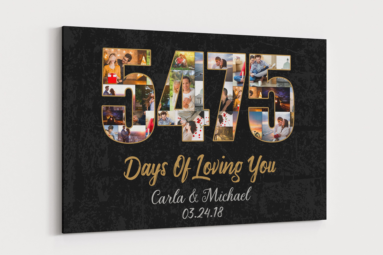 15 Year Wedding Anniversary Canvas 15th Wedding Anniversary Etsy