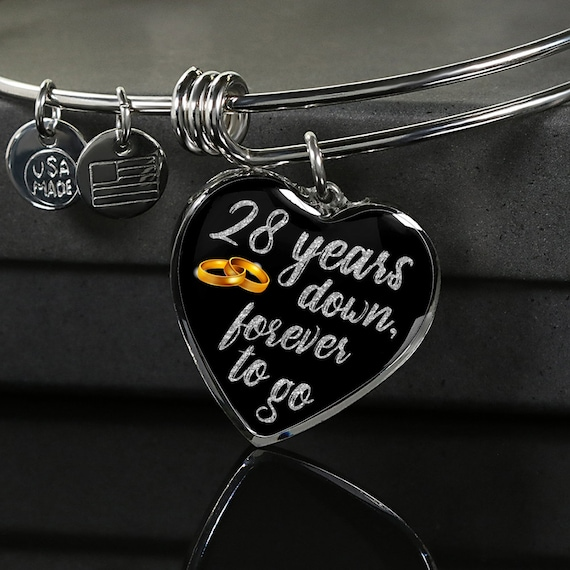 28th Anniversary Gift Bracelet For Wife Woman For Her For Etsy