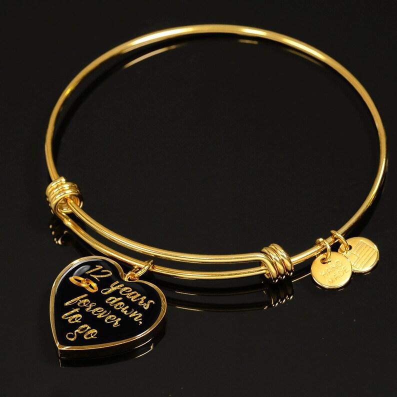 f41b6c5f07545e 12-lecia bransoletka prezent dla żony dla niej dla dziewczyny | Etsy