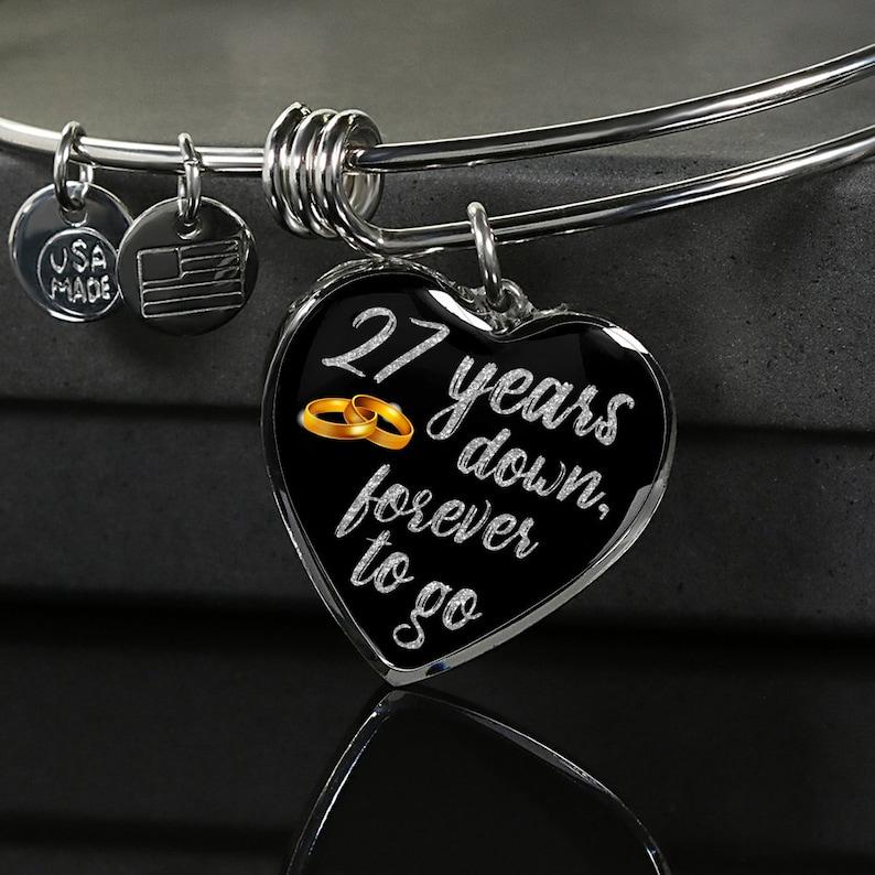 ddfadbd46227e8 27-ta rocznica bransoletka prezent dla żony dla niej dla | Etsy