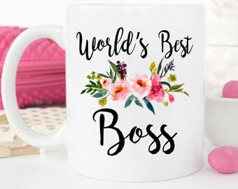 World's Best Boss, Worlds best boss, gift for boss, boss gift, best boss ever, coworker gift, gift for her, Boss Appreciation, Birthday Mug