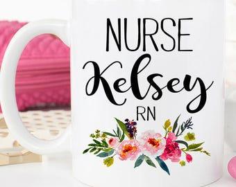 Nurse Graduation Gift, RN Mug, Custom Nurse Gift, Nurse Appreciation, Graduation from Nursing School College, Nurse Mug