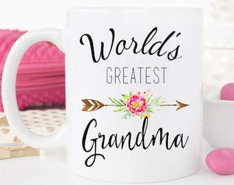 World's Greatest Grandma, Pregnancy Reveal to Grandma Gift, Grandma mug, Gift for grandma, Mothers day gift for Grandma, New Grandma Mug